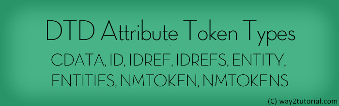 DTD Attribute Token Types