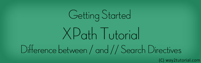Getting Started XPath