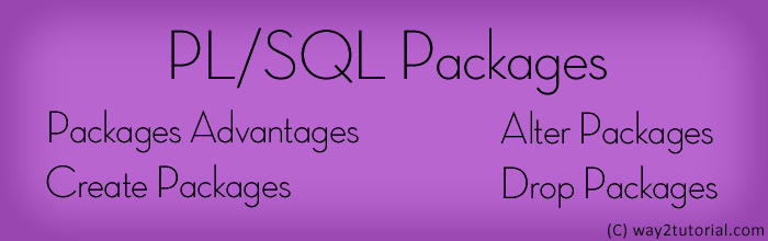 PL/SQL Packages