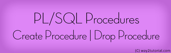 PL/SQL Procedures