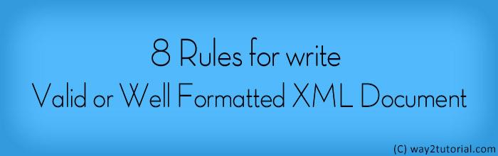 XML Syntax Rules